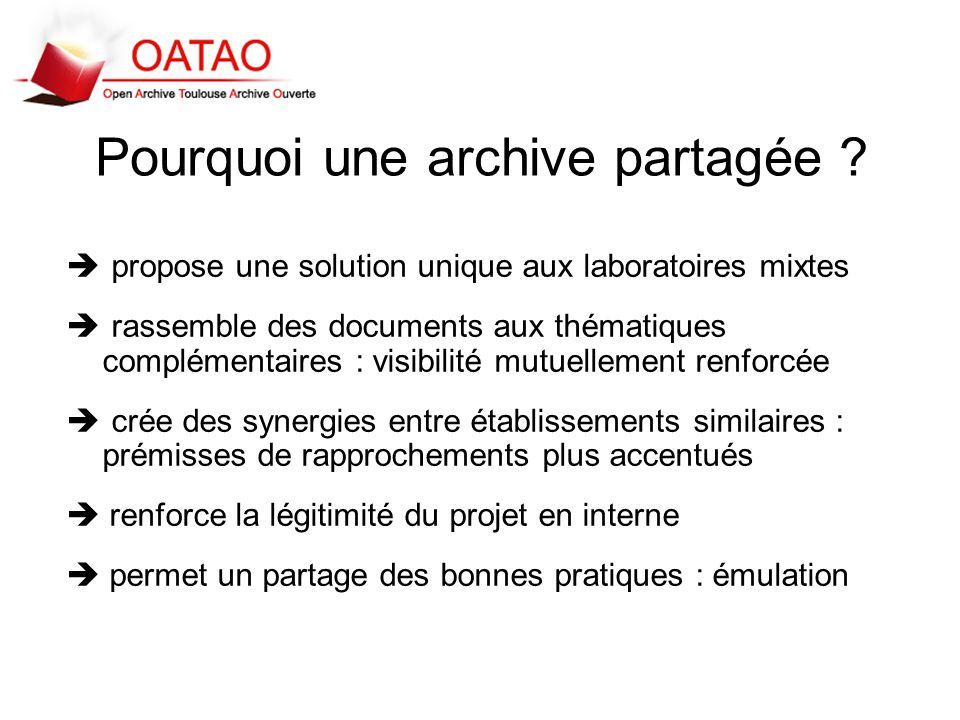 Pourquoi une archive partagée