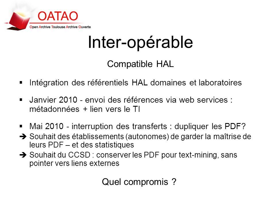 Inter-opérable Compatible HAL Quel compromis