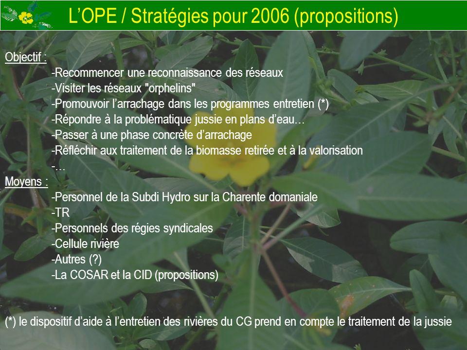 L'OPE / Stratégies pour 2006 (propositions)