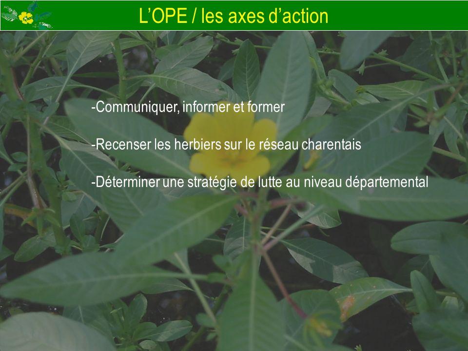 L'OPE / les axes d'action