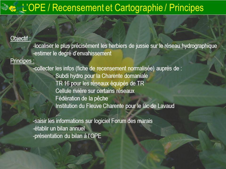 L'OPE / Recensement et Cartographie / Principes