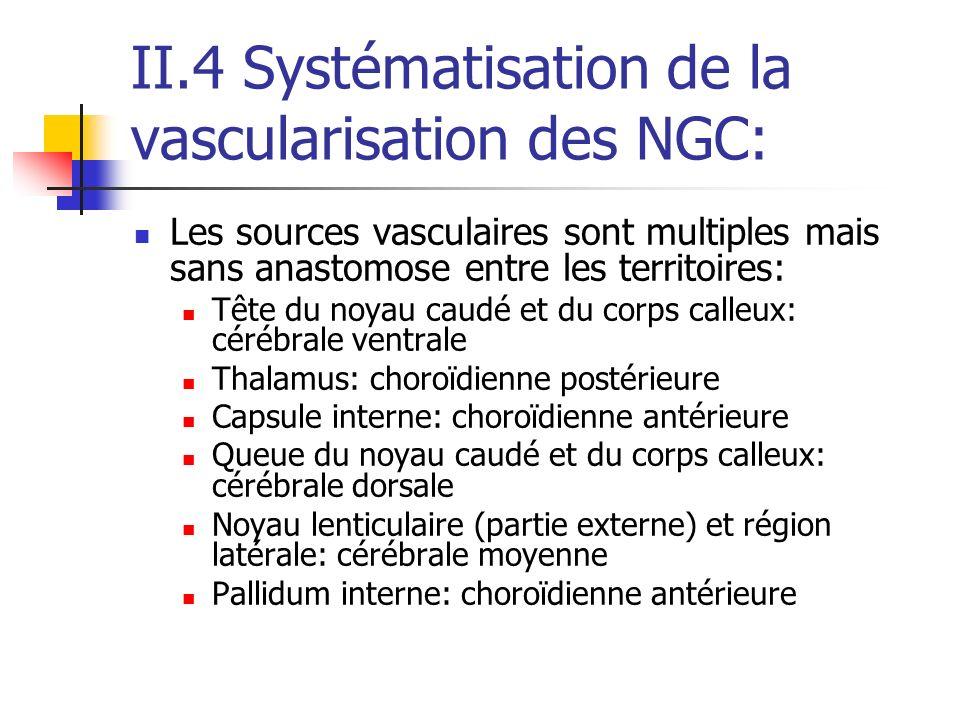 II.4 Systématisation de la vascularisation des NGC: