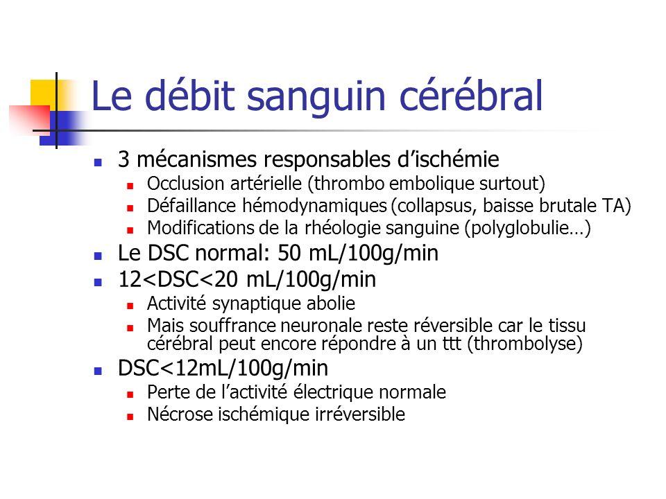 Le débit sanguin cérébral