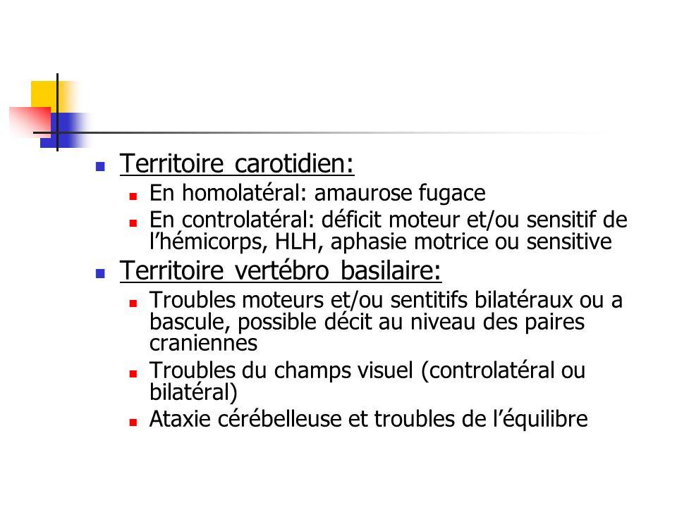 Territoire carotidien: