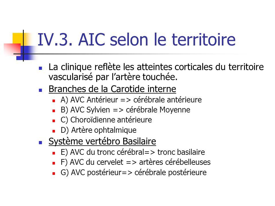IV.3. AIC selon le territoire