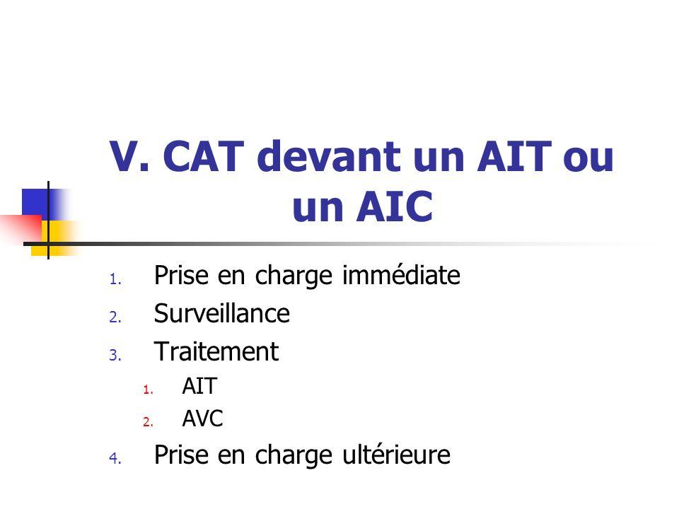 V. CAT devant un AIT ou un AIC