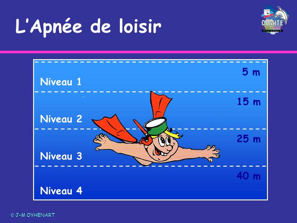 L'Apnée de loisir 5 m Niveau 1 15 m Niveau 2 25 m Niveau 3 40 m