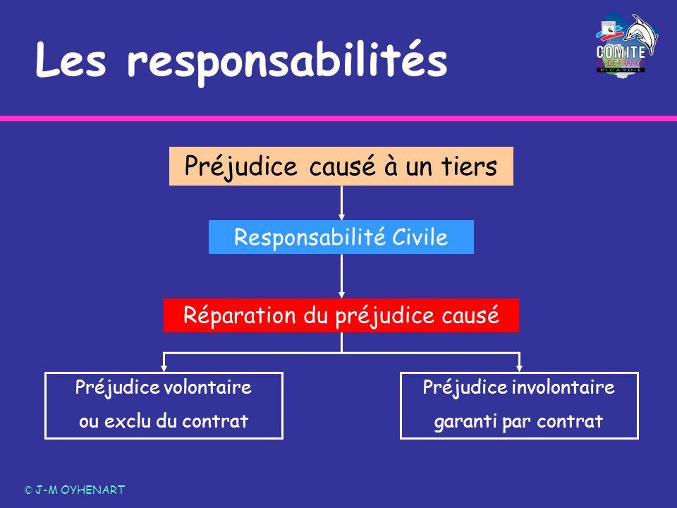 Les responsabilités Préjudice causé à un tiers Responsabilité Civile