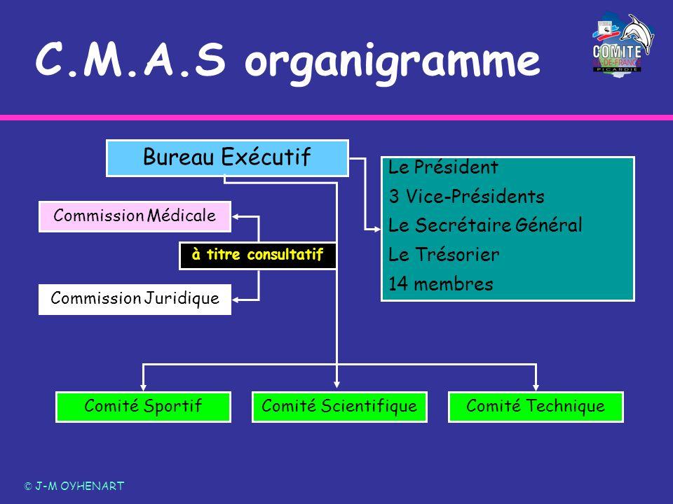 C.M.A.S organigramme Bureau Exécutif Le Président 3 Vice-Présidents