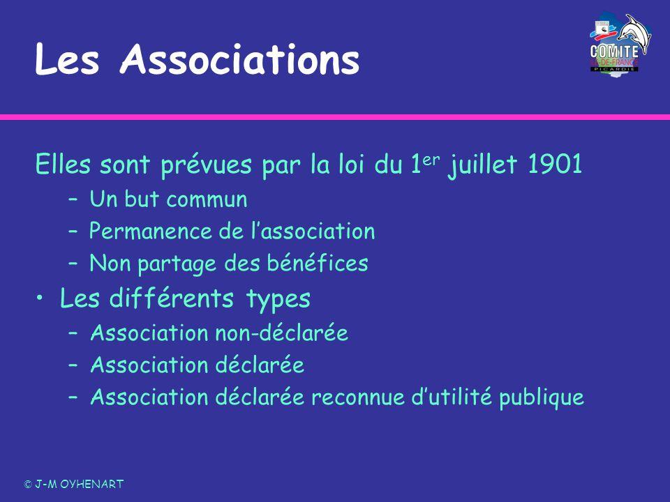 Les Associations Elles sont prévues par la loi du 1er juillet 1901