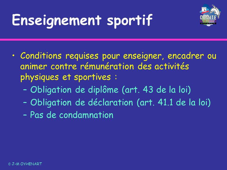 Enseignement sportif Conditions requises pour enseigner, encadrer ou animer contre rémunération des activités physiques et sportives :