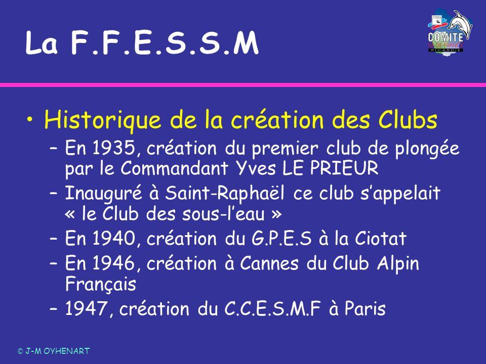 La F.F.E.S.S.M Historique de la création des Clubs