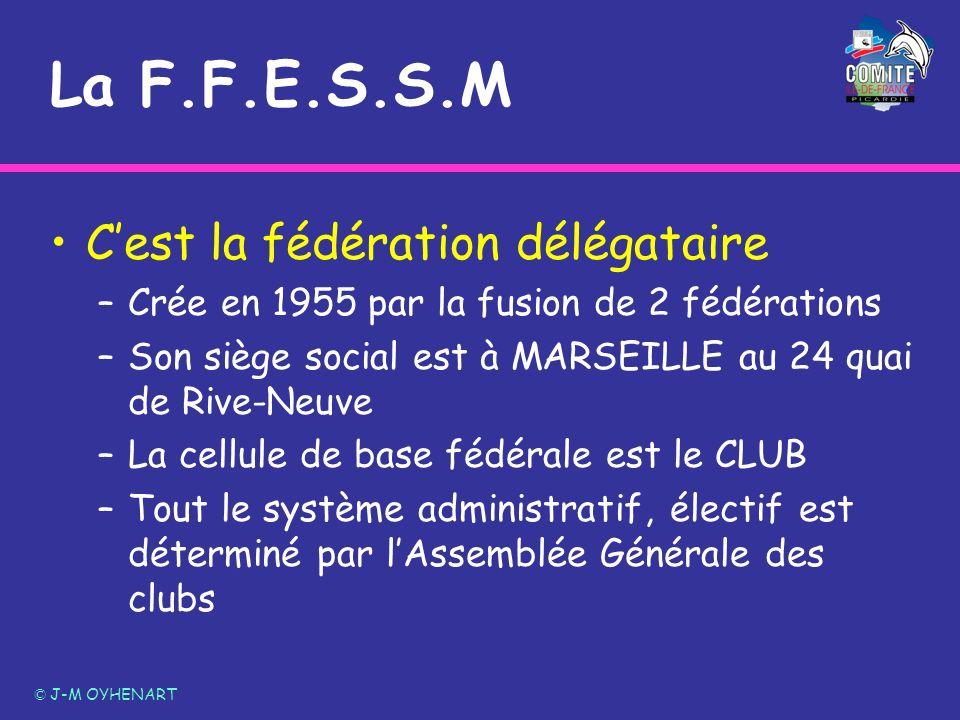 La F.F.E.S.S.M C'est la fédération délégataire