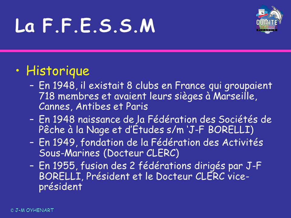 La F.F.E.S.S.M Historique.