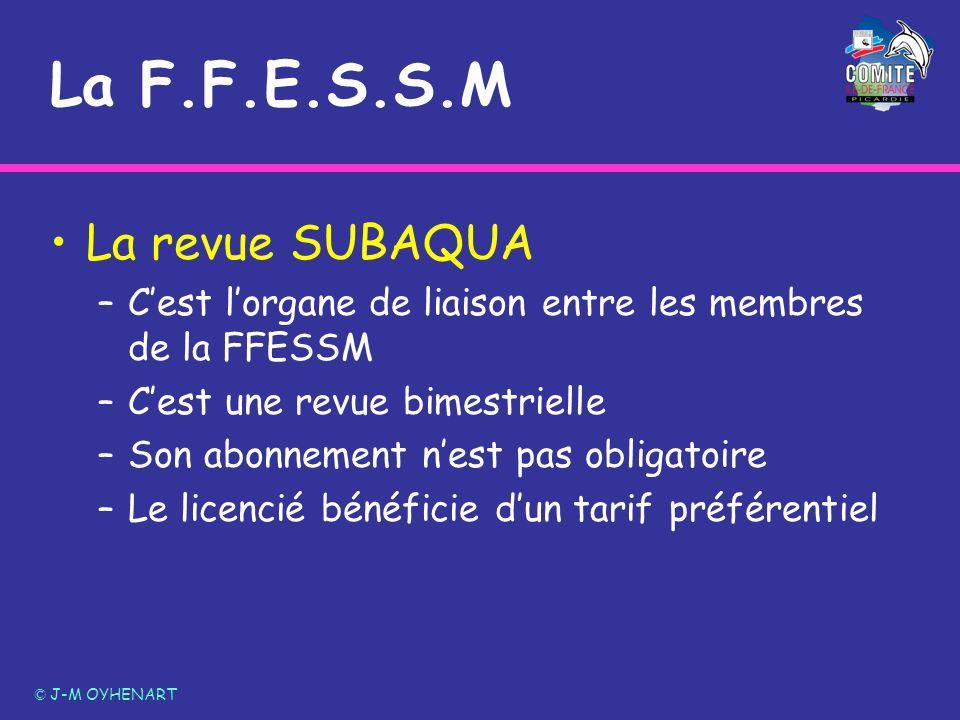 La F.F.E.S.S.M La revue SUBAQUA