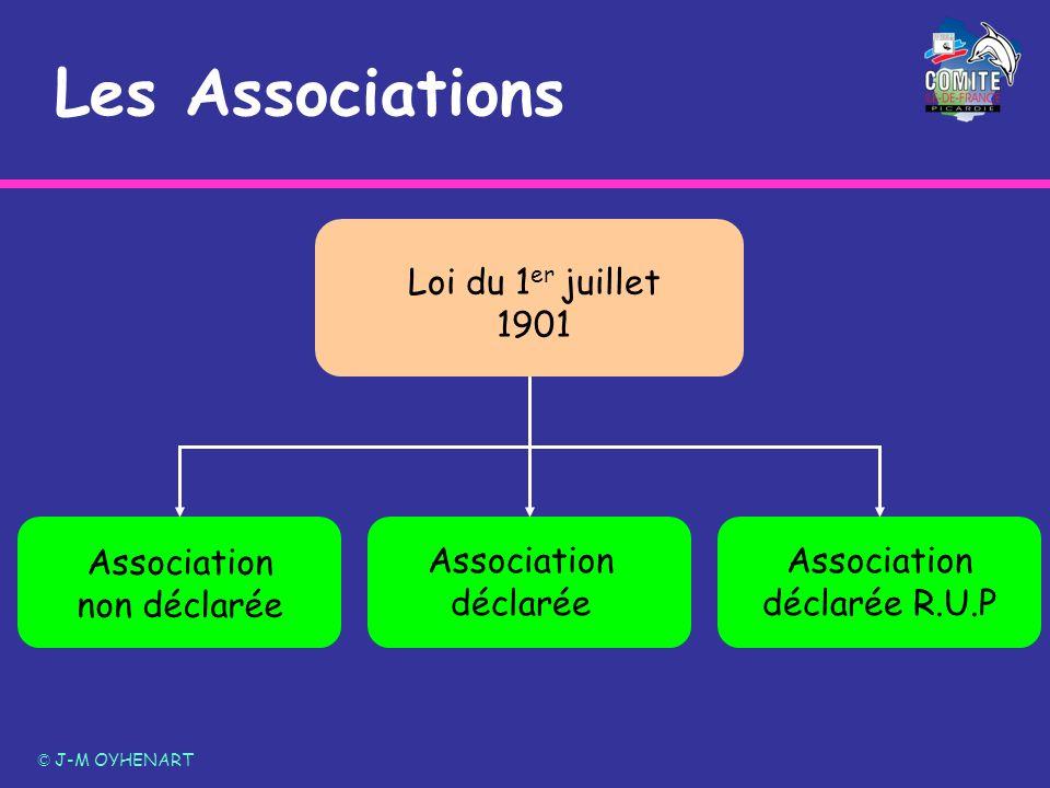 Les Associations Loi du 1er juillet 1901 Association non déclarée