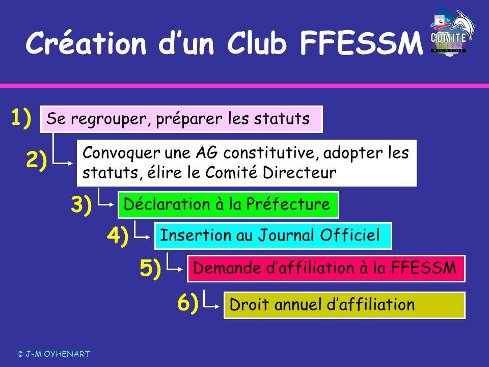Création d'un Club FFESSM