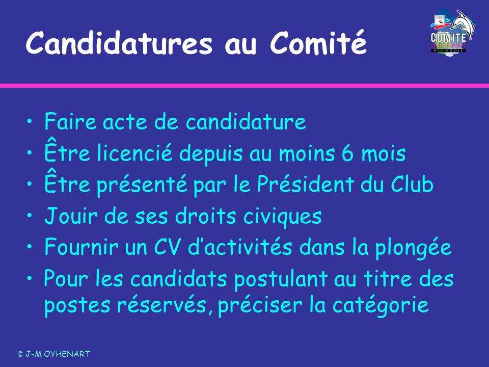 Candidatures au Comité