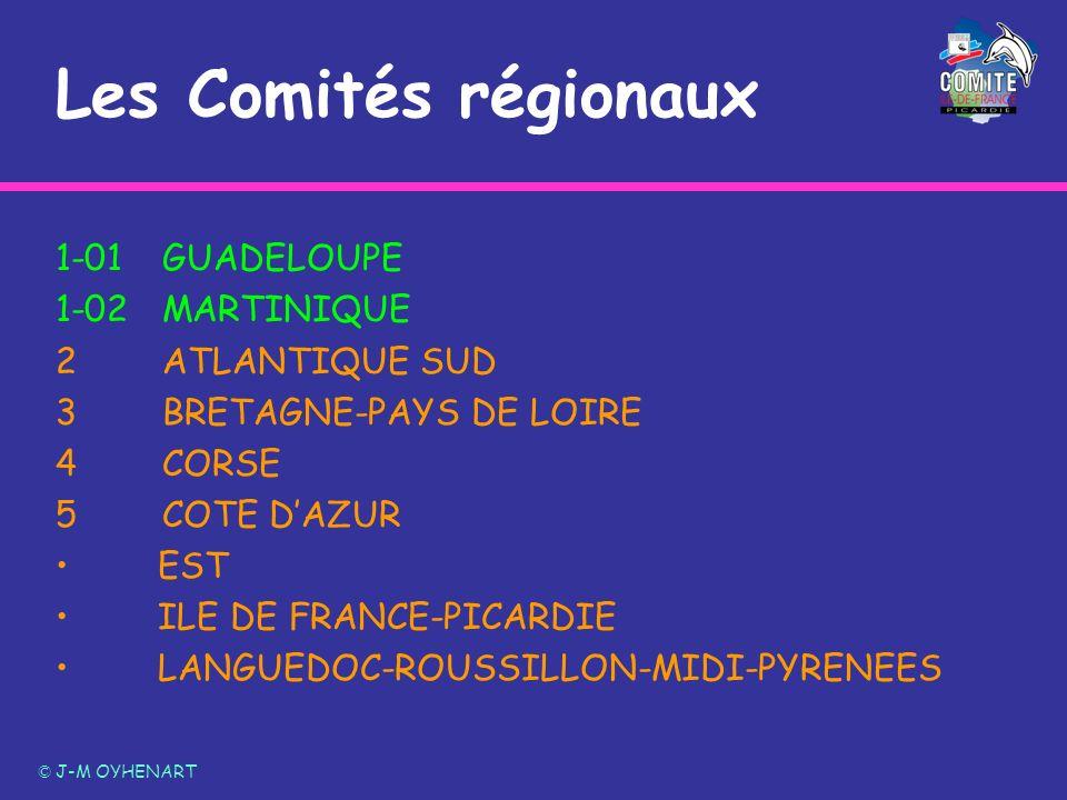 Les Comités régionaux 1-01 GUADELOUPE 1-02 MARTINIQUE 2 ATLANTIQUE SUD