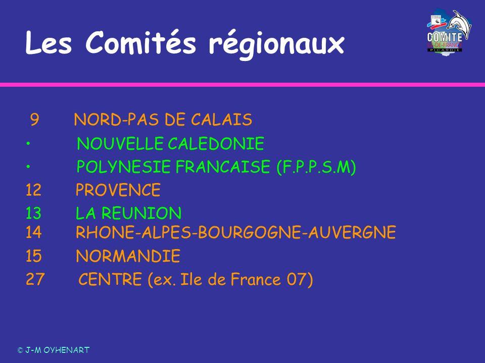 Les Comités régionaux 9 NORD-PAS DE CALAIS NOUVELLE CALEDONIE
