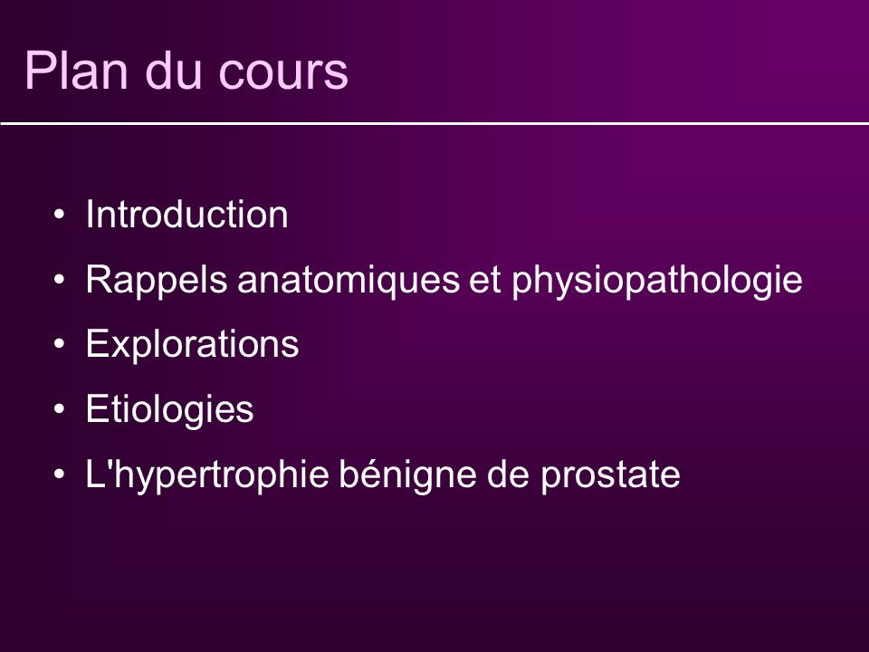 Plan du cours Introduction Rappels anatomiques et physiopathologie