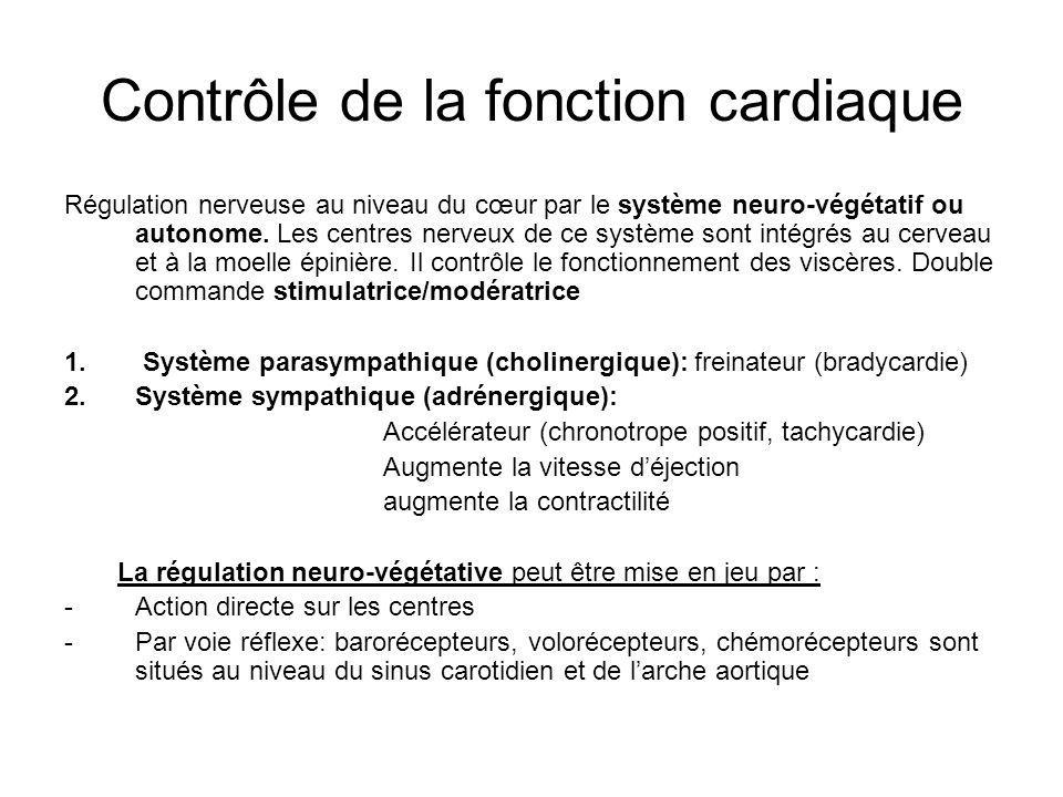 Contrôle de la fonction cardiaque