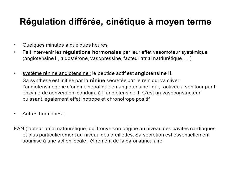 Régulation différée, cinétique à moyen terme