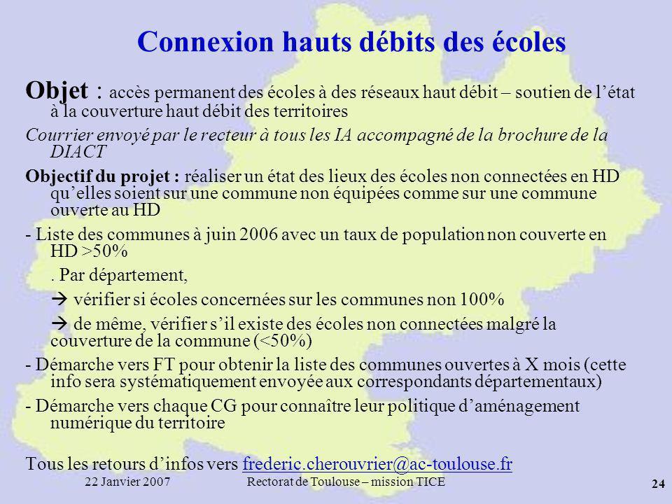 Connexion hauts débits des écoles