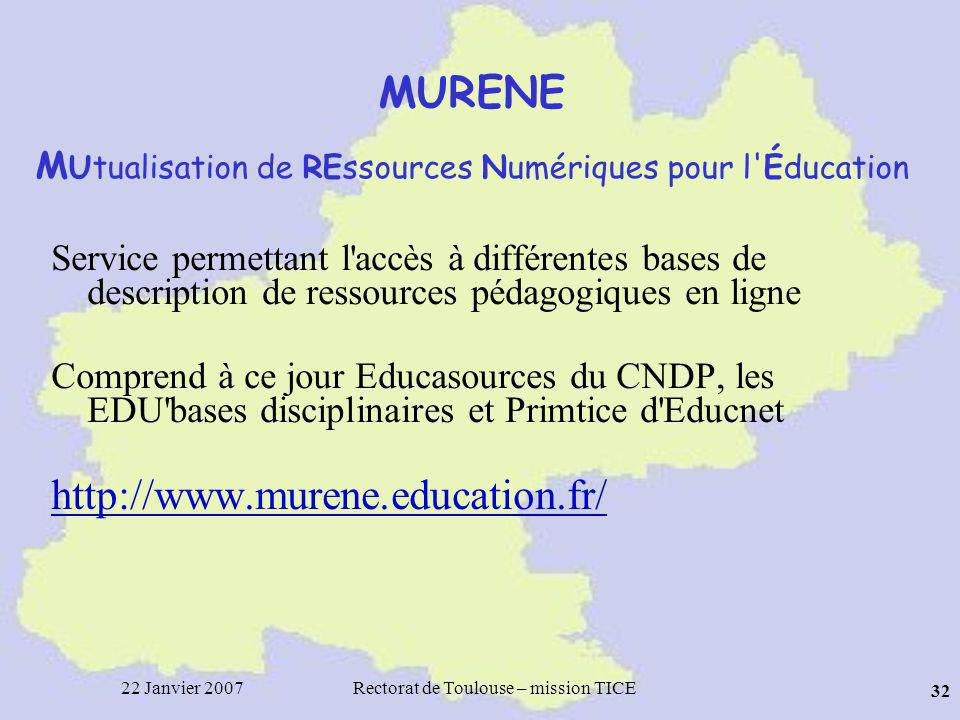 MURENE MUtualisation de REssources Numériques pour l Éducation