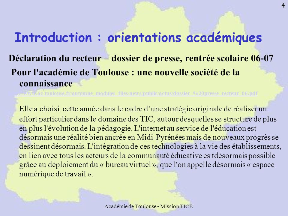 Introduction : orientations académiques