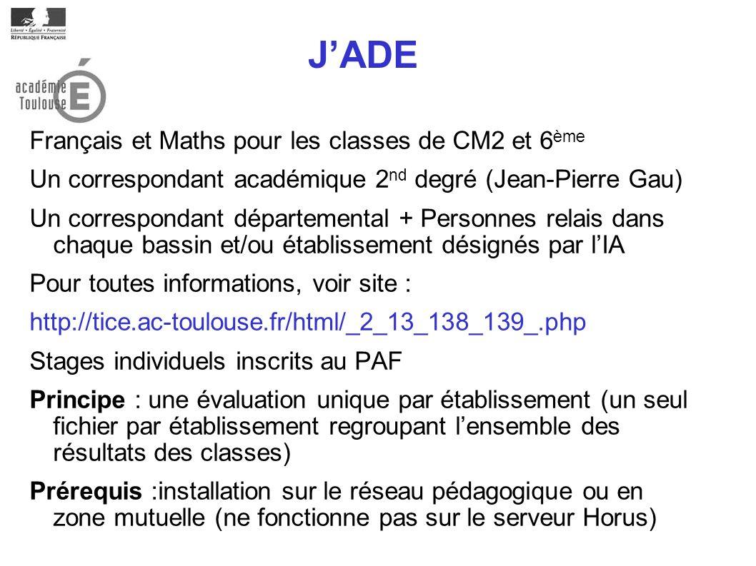 J'ADE Français et Maths pour les classes de CM2 et 6ème