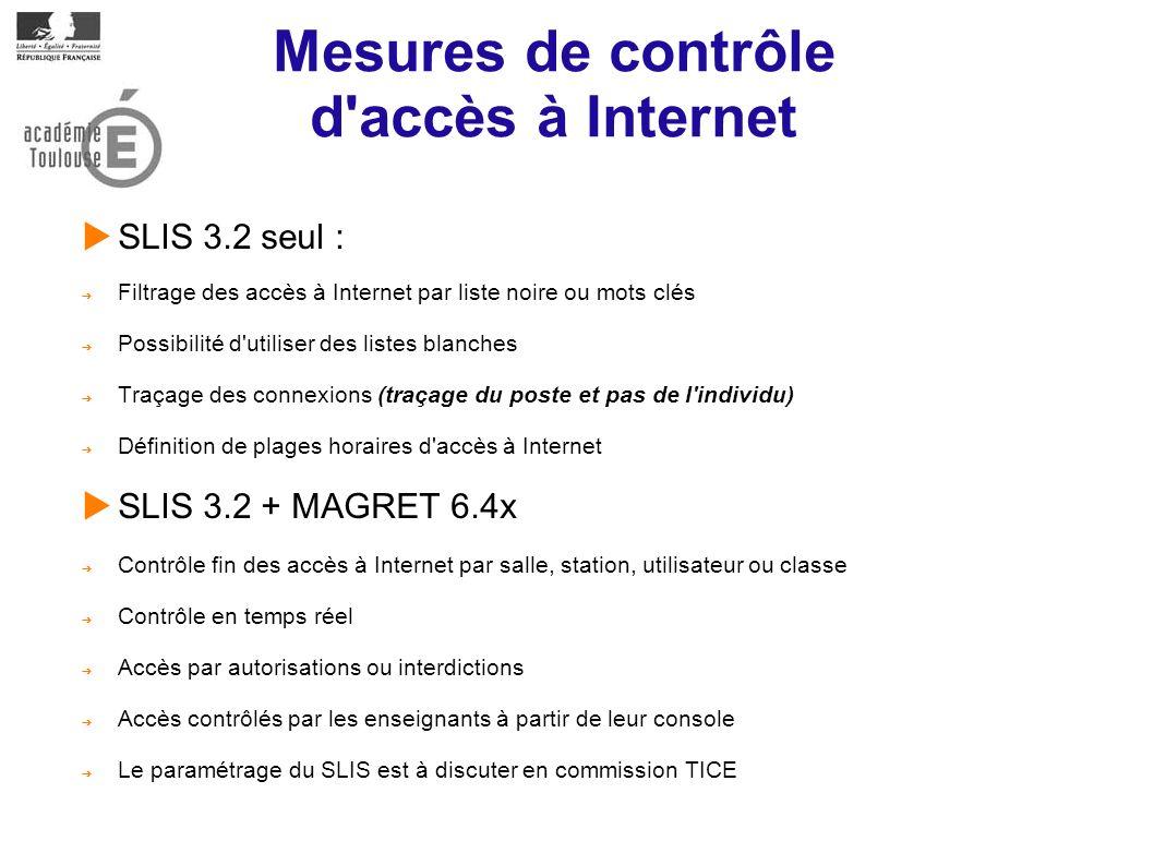 Mesures de contrôle d accès à Internet