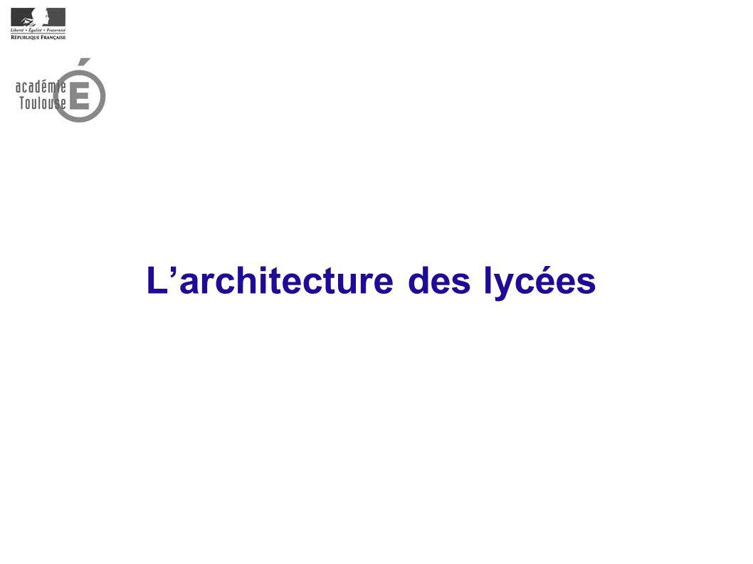 L'architecture des lycées