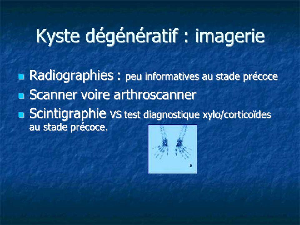 Kyste dégénératif : imagerie