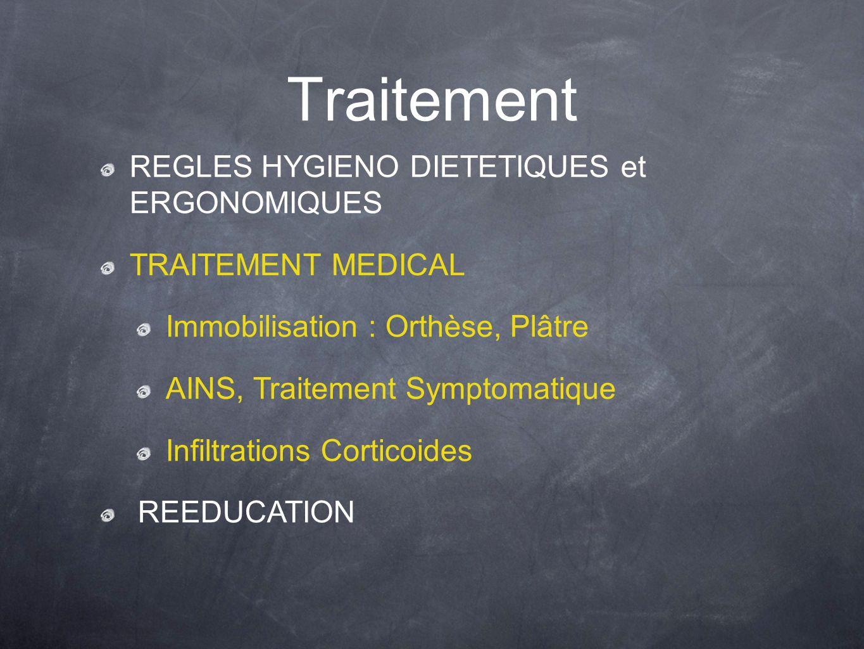 Traitement REGLES HYGIENO DIETETIQUES et ERGONOMIQUES