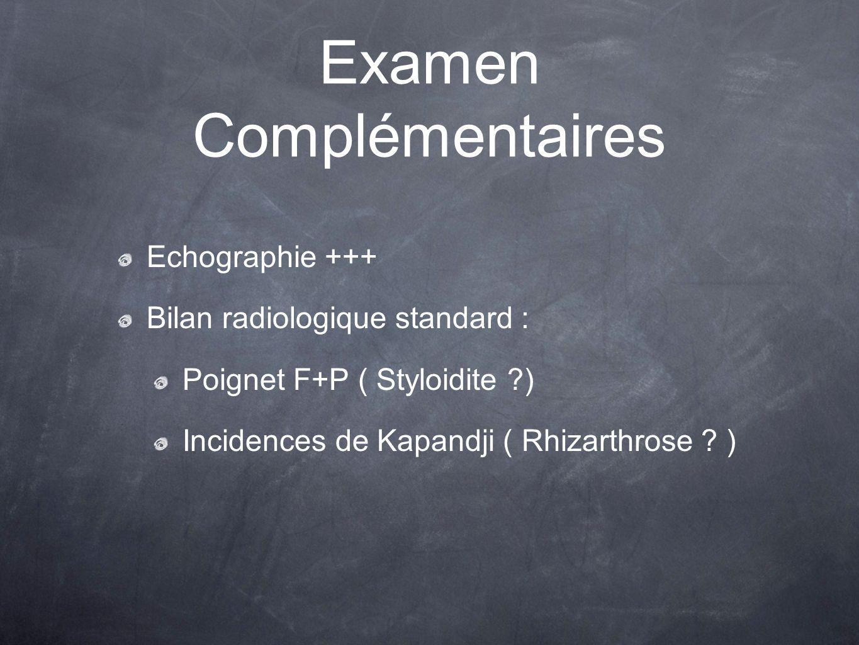Examen Complémentaires