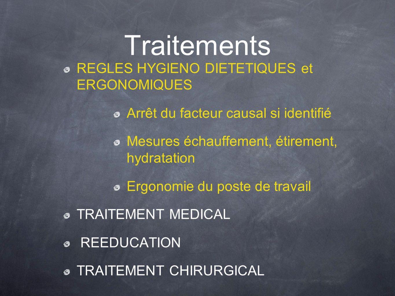 Traitements REGLES HYGIENO DIETETIQUES et ERGONOMIQUES
