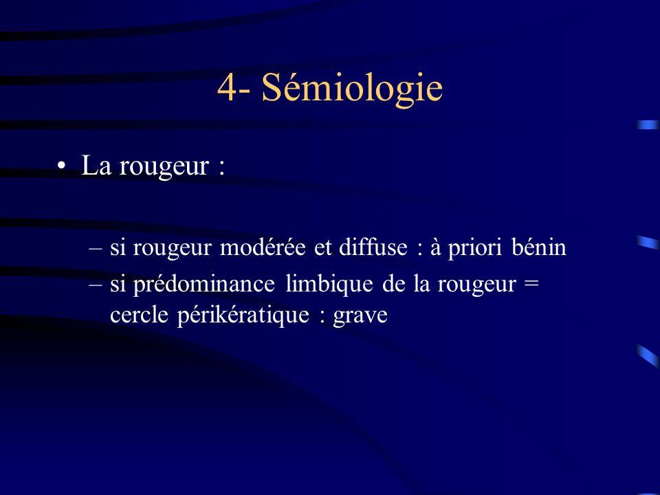 4- Sémiologie La rougeur :