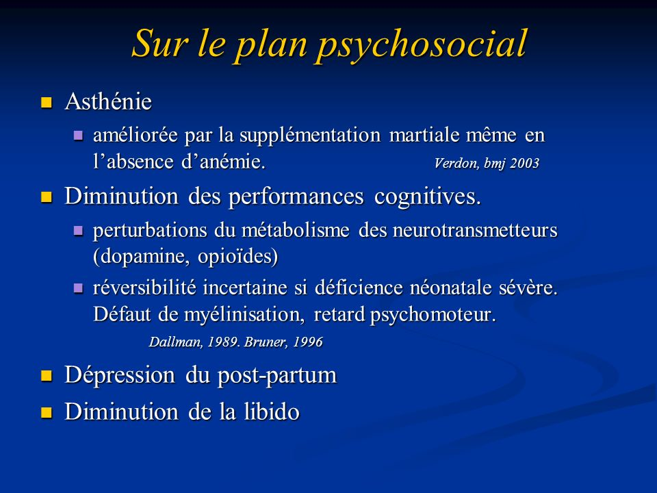 Sur le plan psychosocial