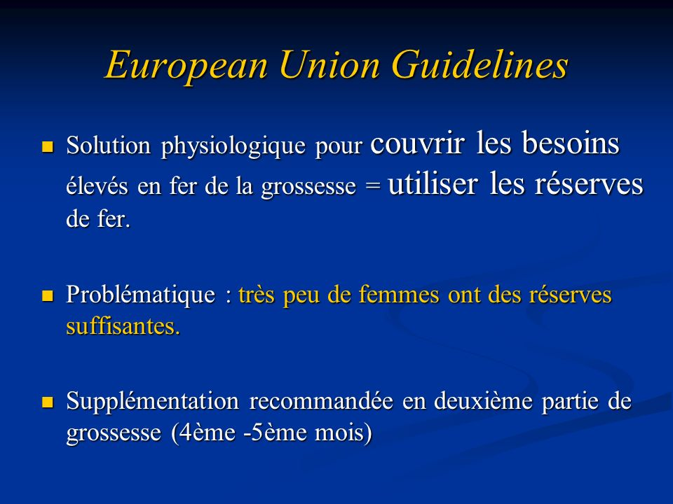 European Union Guidelines