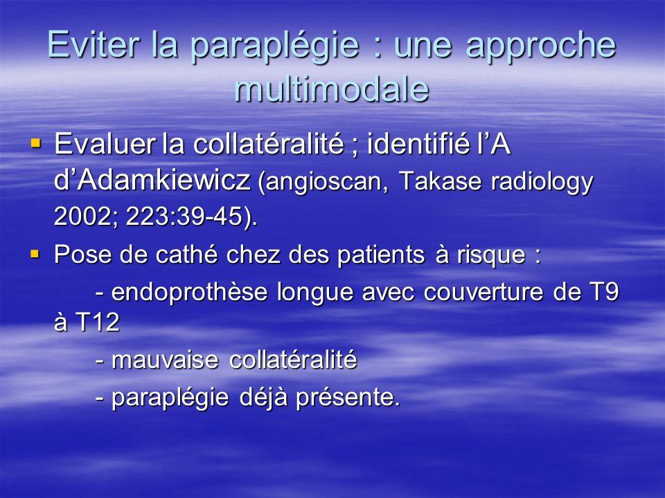 Eviter la paraplégie : une approche multimodale