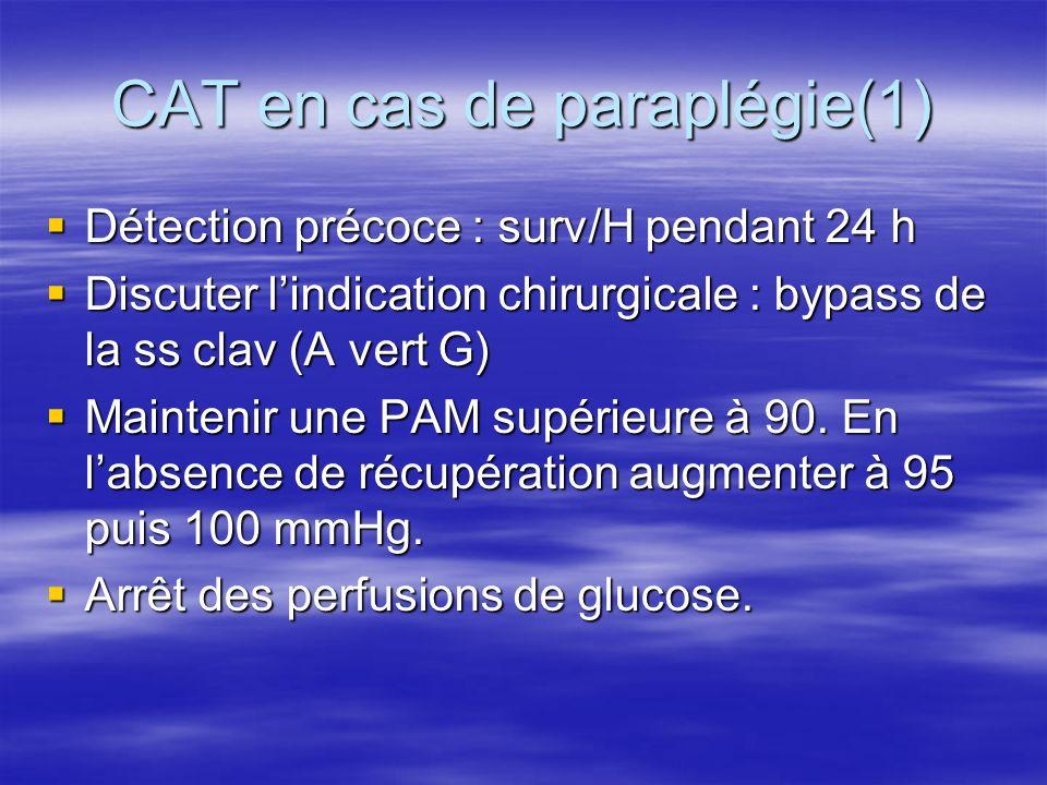 CAT en cas de paraplégie(1)