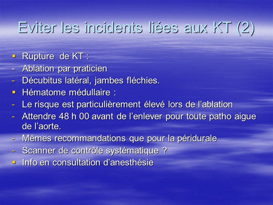 Eviter les incidents liées aux KT (2)