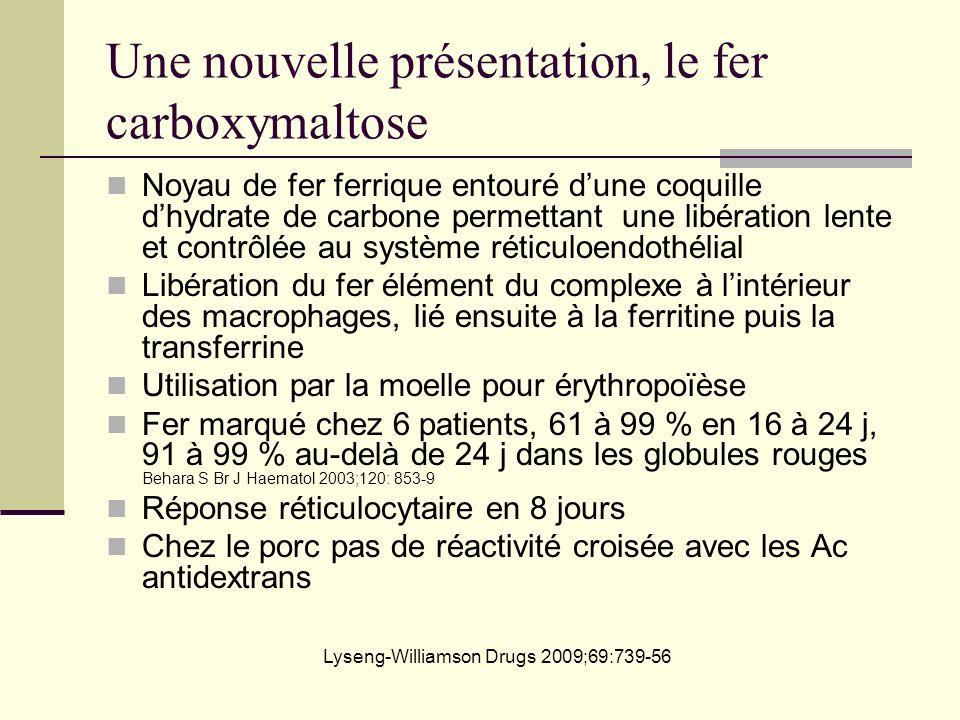 Une nouvelle présentation, le fer carboxymaltose