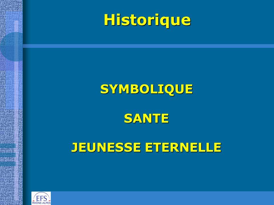 Historique SYMBOLIQUE SANTE JEUNESSE ETERNELLE