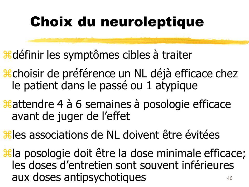 Choix du neuroleptique