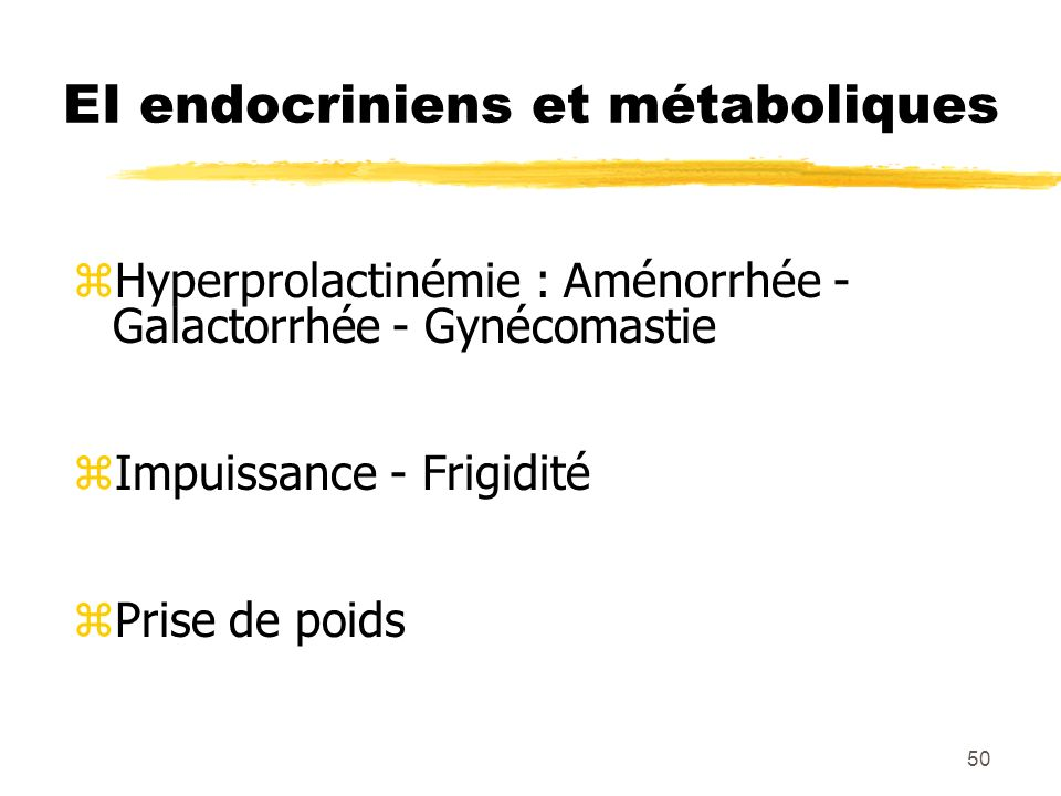 EI endocriniens et métaboliques