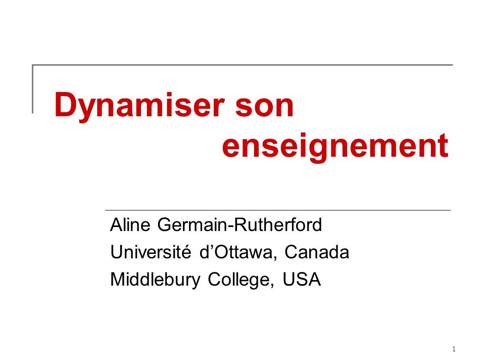 Dynamiser son enseignement