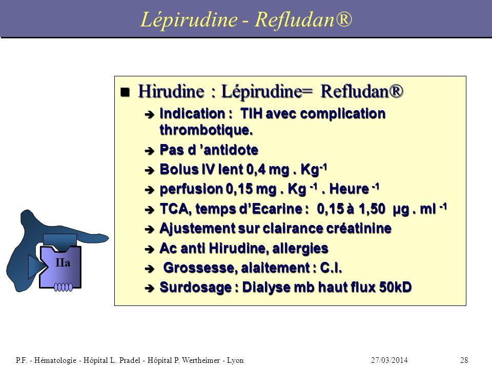 Lépirudine - Refludan®