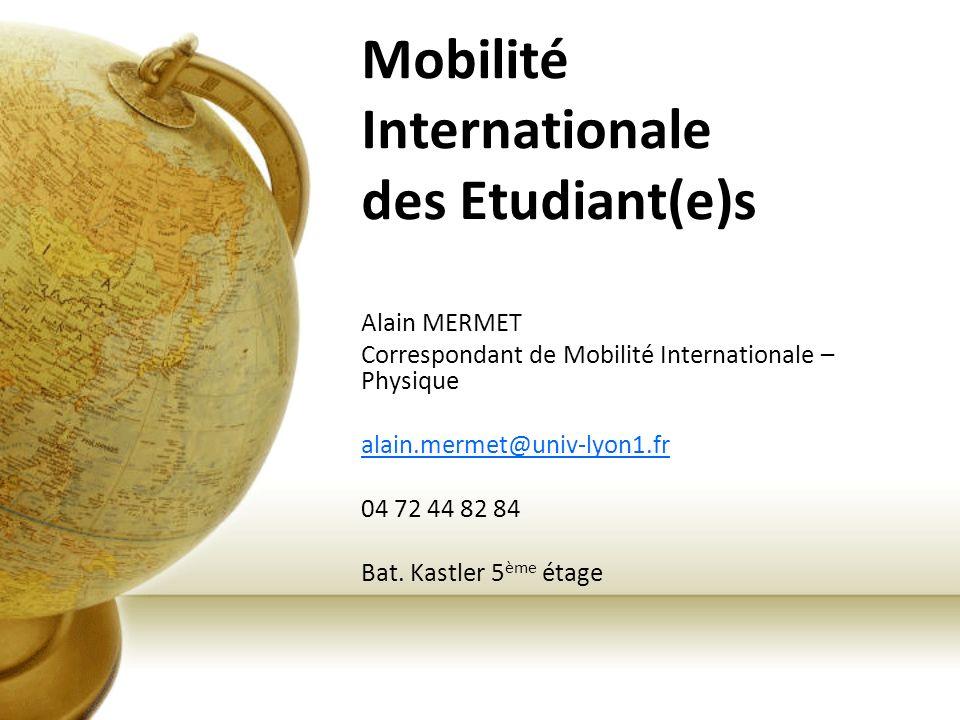 Mobilité Internationale des Etudiant(e)s